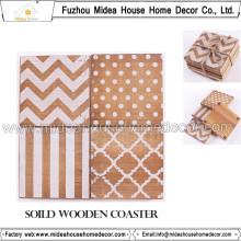 China Fábrica baratos personalizados madeira madeira Coasters