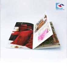 Folleto de impresión de alta calidad, impresión de folletos, revista de tapa blanda
