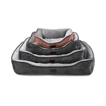 Cheap Hot Sale Top Quality Velvet Fabric Square Pet Soft Dog Bed