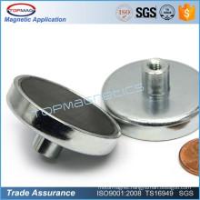 Pot Ceramic Magnets Round Base Magnet with Bolt