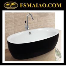 Mercadorias sanitários do banheiro acrílico preto & branco clássico da banheira (9003)