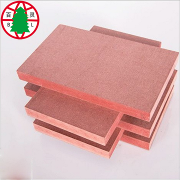 Fire resistance MDF red color flame retardant mdf