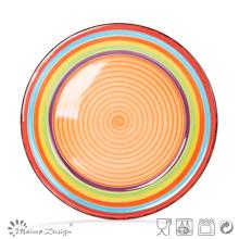 Plaque en céramique de 27 cm peinte à la main dans un design Spinwash