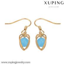 29149 China de la fábrica del pendiente de Xuping, las mujeres de la moda enganchan el pendiente, los diseños árabes del pendiente de oro para las mujeres