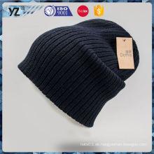 Fabrik populäre einfache Entwurfsdamen stricken Hüte Schnellste Anlieferung