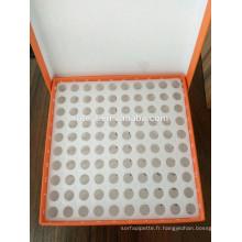 Boîte de tubes cryoviaux à 100 puits pour tubes à centrifuger de 0,5 ml