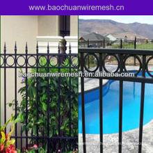 Fancy iron pool fence