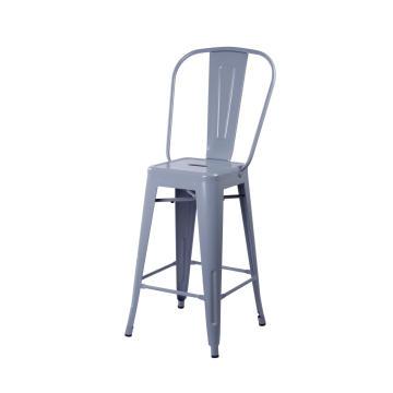 banco de bar bistrô tolix cadeira encosto alto réplica