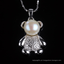 Lovely Teddy Bear Forma Forma Pingente Colar Jewellry