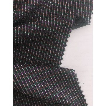Metallischer Lurex Stretch Strickstoff