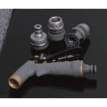 Conjunto de encaixe de mangueira de jardim de liga de zinco com mangueira conector, adaptador, injetor de pulverizador
