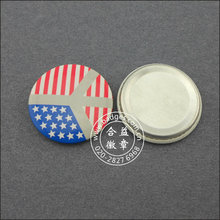 Штыри отворотом национального флага, значок из оловянного металла (GZHY-BADGE-047)