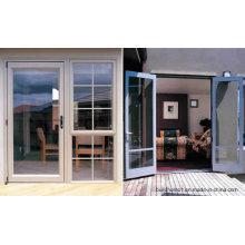 Изолированные синие тонированные двойные стекла Гладкие раздвижные алюминиевые двери
