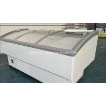 560L refrigerator freezer with curved glass sliding door