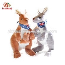 OEM factory big size stuffed kangaroo plush toy for baby
