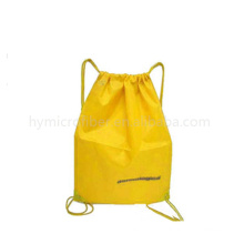 Personalized cheap advertising nonwoven backpacks, fold up drawstring backpacks, non-woven folded bag