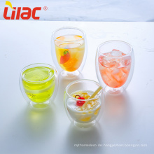 Lilac 250ml/350ml Kaffee/Tee Klarglas doppelwandige Tassen