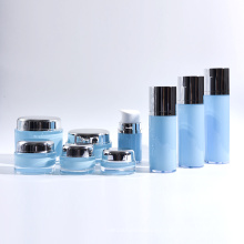 30ml-120ml Cylinder Plastic Acrylic Airless Bottles with Round Acrylic Jars Collection