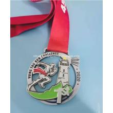 Металлическая медаль из цинкового сплава диаметром 75 мм