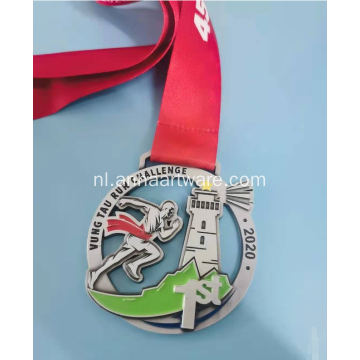 Zinklegering 75 mm diameter metalen medaille