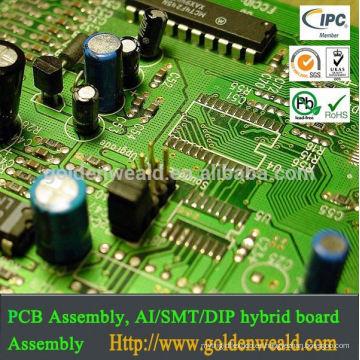 conjunto de PCB ensamblaje de PCB SMT y controlador de luz LED DIP con interruptor ámbar y fabricación de pcb