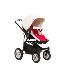 Pneu de Design de Luxo pneumático Pram Moderno Multi-função Carrinho de Bebé Branco E Preto