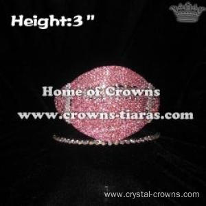 Pink Football Crystal Pageant Crowns