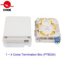 Boîtier de raccordement de câble à fibre optique à 1 port avec couvercle transparent