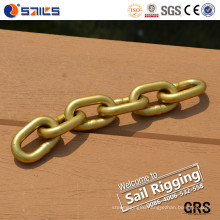 Yellow Zinc-Plated Carbon Steel Chain