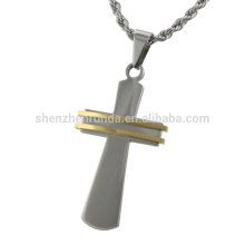 Colgante de la cruz del acero inoxidable de la manera