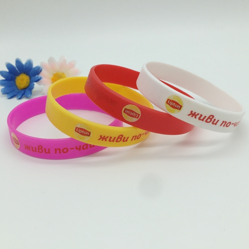 Screen printed wristbands