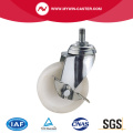 Side Braked Threaded Stem Swivel PA Industrial Caster