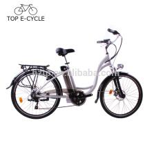 Vélo électrique de style de ville en gros avec le vélo électrique du moteur 36V 250W 10Ah puissant ebike