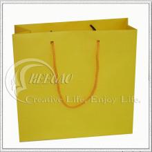 Bolsa de papel amarilla (KG-PB038)