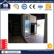Sliding Folding Door with Security Double Glass Door