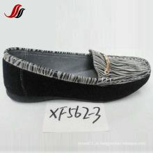 Últimas mulheres Loafer sapatos lazer couro sapatos (XF562-3)