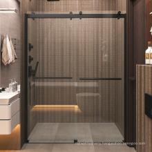 Seawin Black Frameless 10 mm Tempered Glass bypass Sliding Shower Door