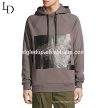 Wholesale grey trendy no pockets xxxxl printed pullover men hoodies