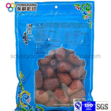 Paquete de plástico de frutas secas de grado alimenticio