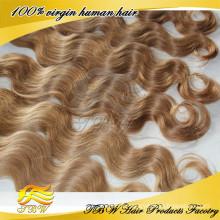 100% cheveux humains blonds cheveux russes blonds pour la mode femme MOQ 1 pièce