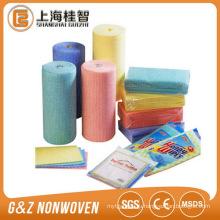Производитель Китай производство нетканых спанлейс рулон ткани для легкой чистки