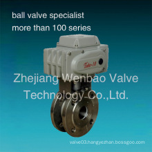 Wafer Type Italy Ball Valve with Electric Actuator