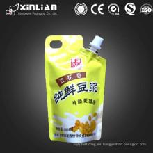 Soporte para arriba jugo empaquetado bolsa de pico / bolsa de lechada de leche / jalea empaquetado bolsa de pico