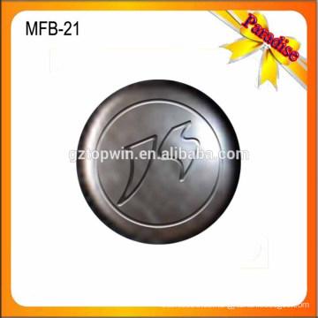 MFB20 Großhandelsneue antike Messingmetalljeansknopf und -nieten 17mm mit dem Firmenzeichen graviert