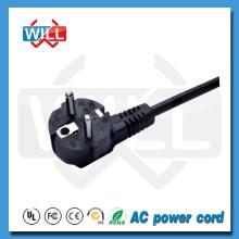 VDE 2 Pin Round Pin European Plug Cordon d'alimentation