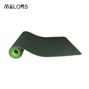 Melors Double Layers TPE Yoga Mat para Fitness