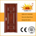 2016 Nuevos Diseños Seguridad Exterior de Seguridad de Acero Puerta (SC-S001)
