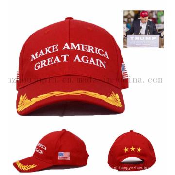 Tampão do chapéu de basebol da propaganda relativa à promoção do logotipo do OEM para o voto