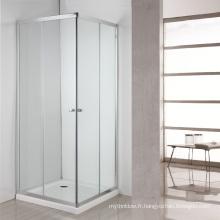 cabine de douche en verre préfabriqué