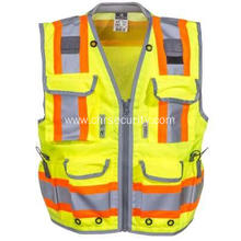 Unisex High Visibility Green Engineer Vest